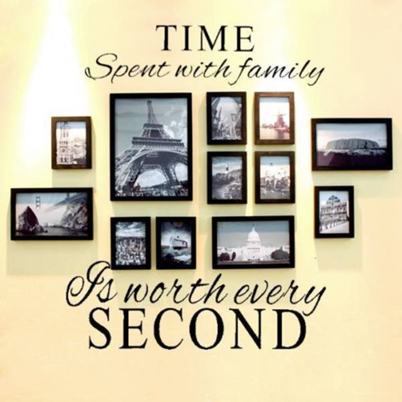 Modern Family Wall Decor : New modern stylish quot time spent with family wall