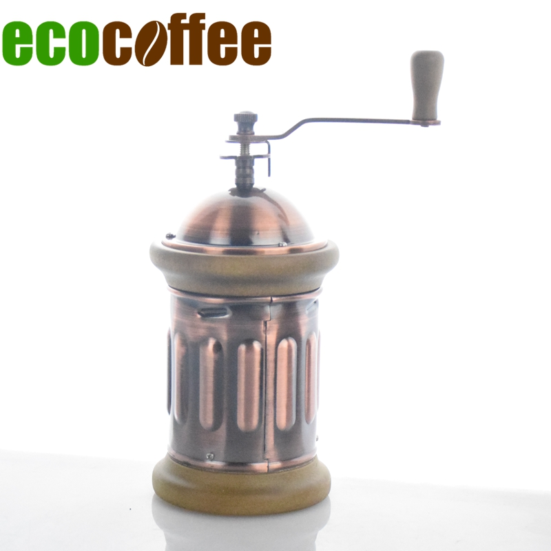 Freeshipping Manual Coffee Grinder Conical Burr Mill with Brushed Stainless Steel CIQ Stocked Hot sale