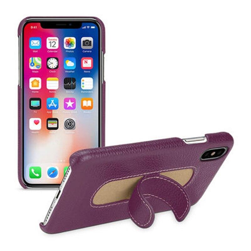 2017 nouveau étui pour iphone X 100% couverture de téléphone en cuir véritable Design de luxe Ultra-mince sac de Protection arrière pour iphone onex 5.8 pouces