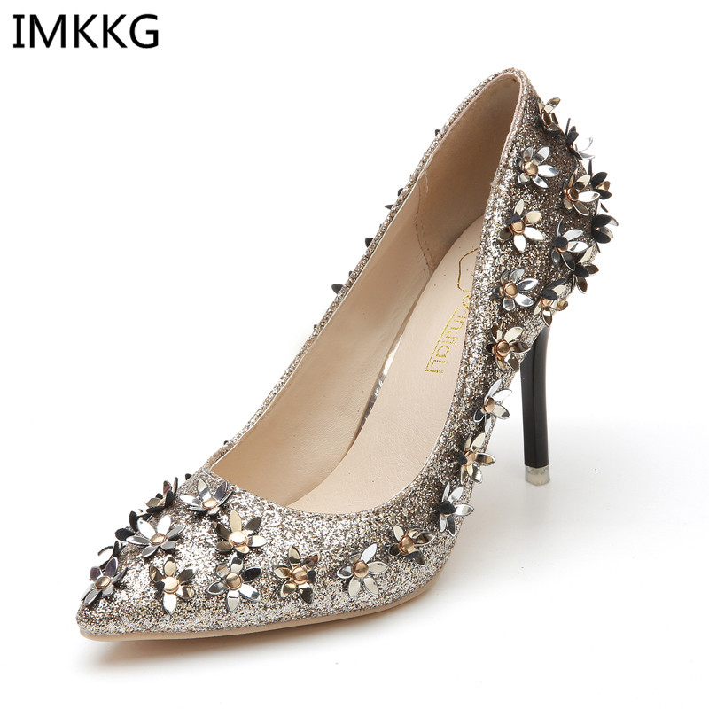 80ab91e66a40 Buy crystal high heel shoes gold and get free shipping on AliExpress.com