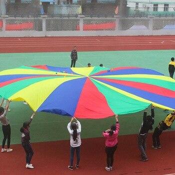 c712ad67f11e 2 M/3 M/4 M niños paracaídas juguete deporte al aire libre juguete niño  deporte desarrollo Arco Iris paraguas trabajo en equipo de juguete