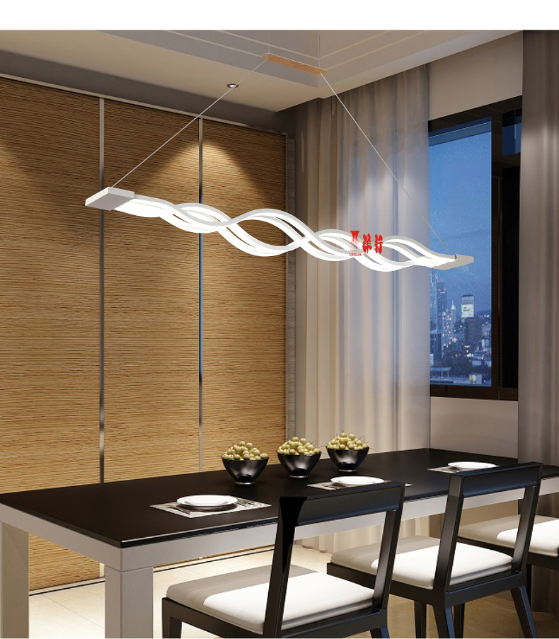 New Creative Modern LED Pendant Lights Kitchen Acrylic+Metal Suspension Hanging Ceiling Lamp For Dinning Room Lamparas Colgantes