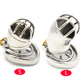 Prison Bird Male Stainless Steel Cock Cage Penis Ring Chastity Device with Stealth New Lock Adult Sex Toy A271