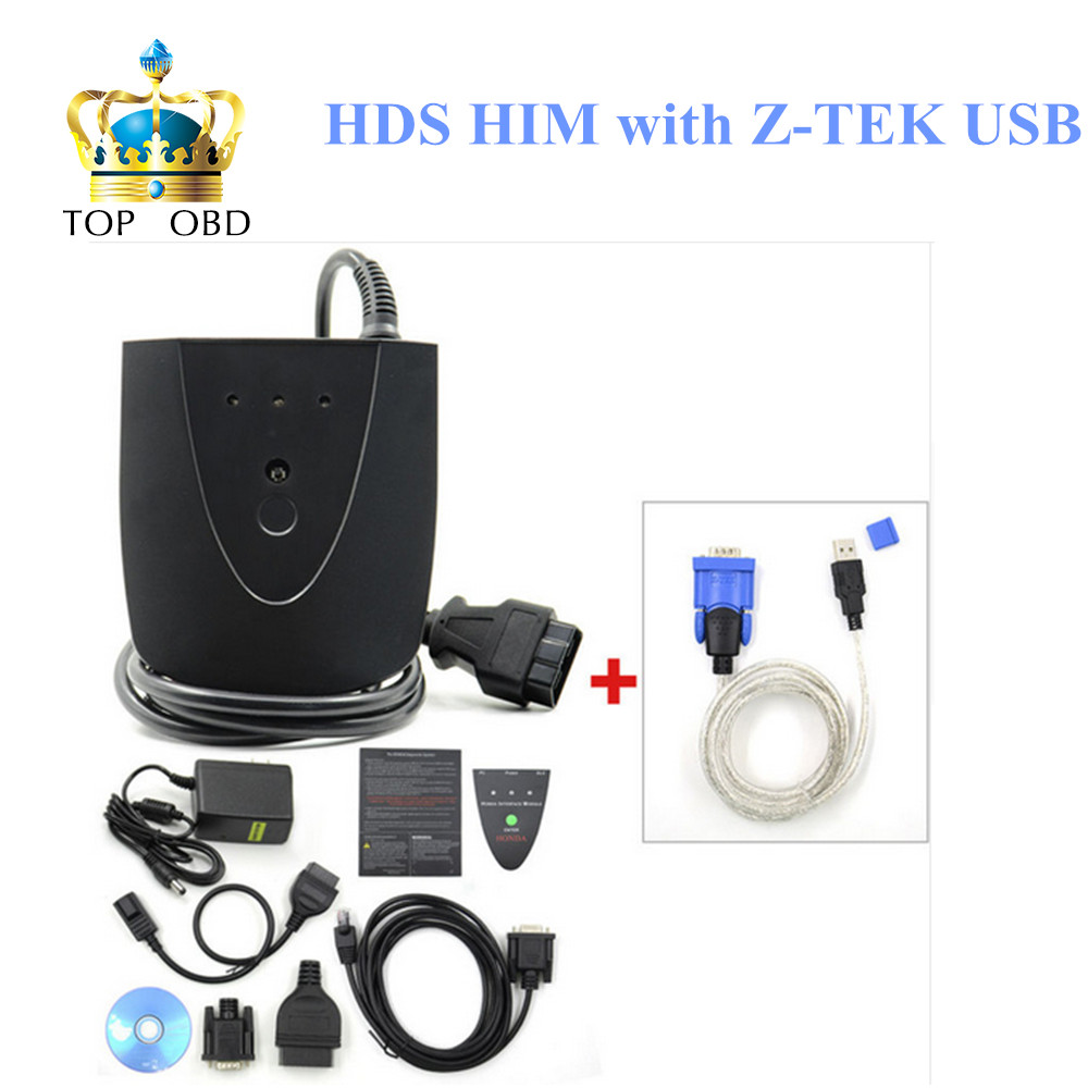 New V3.101.015 For Honda HDS HIM Diagnostic Tool with Double Board HDS HIM with Z-TEK USB1.1 To RS232 Convert Connector