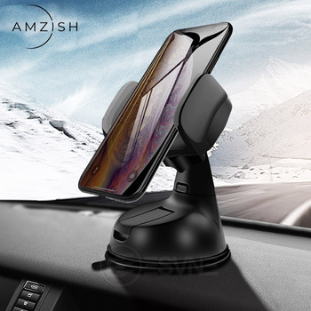 amzish Universal Phone Holder in Car For IPhone Samsung Huawei Xiaomi Mobile Phone Car Phone holder Stand Dashboard 1