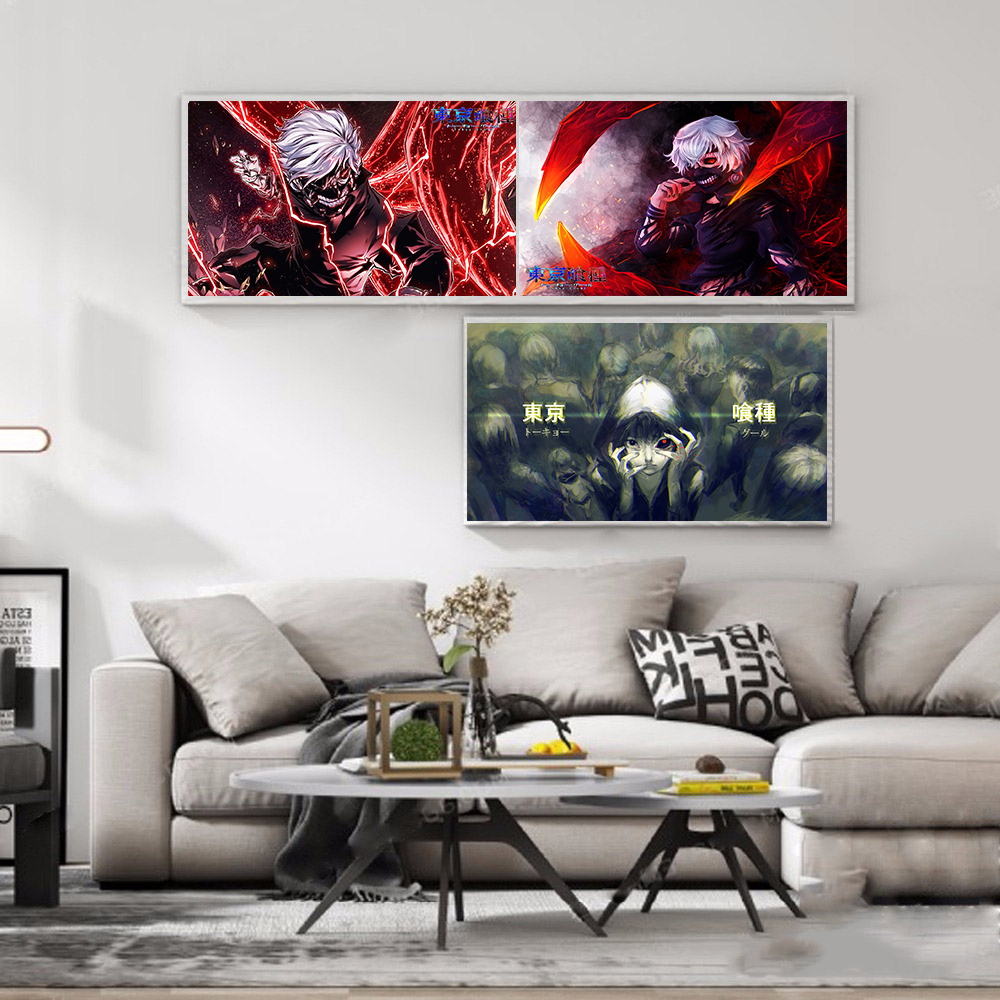 new Japanese anime Tokyo Ghoul Coated paper poster Cafe Creative wallpaper Interior Decoration interior design