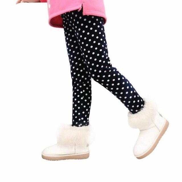 MUQGEW Зимние Девушки Леггинсы Толстые Теплые Эластичный Пояс Леггинсы Точечная печать Одежда Брюки Брюки Render Z05
