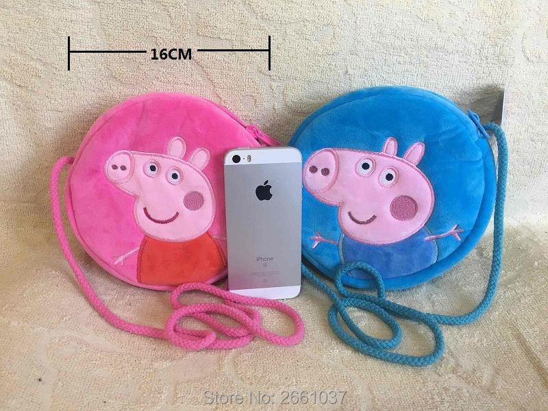 1pcs-16CM-Genuine-plush-pig-bag-Pink-Peppa-Pig-George-Backpack-high-quality-hot-sale-Animal-satchel-For-Childrens-haversack-2