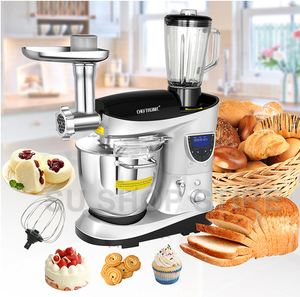Image 1 - CHEFTRONIC 4 In 1 Multifunction Kitchen Stand Mixer SM 1088, 1000W 7.4QT Precise Heat Stainless Mixing Bowl with Meat Grinder B