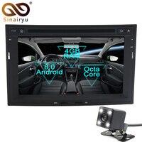 Sinairyu 2 Din Android 8,0 Octa Core dvd плеер автомобиля для peugeot 3008 3005 2010 2015 gps Navi мультимедиа радио Стерео Штатная