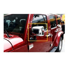One Pair High Quality Car Styling ABS Galvanized Mirror Car Covers Sticker Suitable for Jeep Wrangler Automobiles Accessories