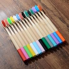 1 шт. Экологичная бамбуковая зубная щетка средней щетиной биоразлагаемая пластическая уход за полостью рта для взрослых зубная щетка эко кисточка с бамбуковой ручкой