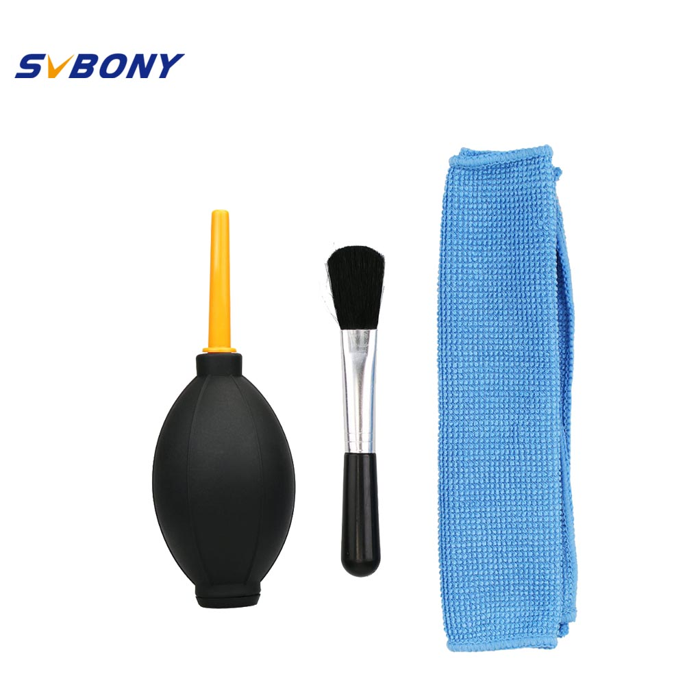 Professional Lens Cleaning 3 Piece Set Lens Dust Blower Cleaning Cloth Lens Brush For Camera Monocular Astronomy Telescope Filte