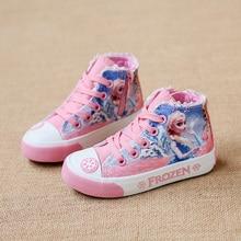 Детская парусиновая обувь для девочек спортивные туфли toddle кроссовки высокие сапоги детские пинетки сестры девушки туфли принцессы кружева мультфильм