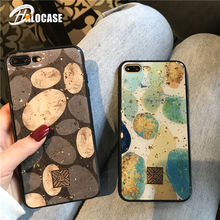 Luxury Gold Foil Glossy Case For iPhone XS Max X XR Vintage Shining Glitter Cover 6 6S 7 8 Plus Soft TPU