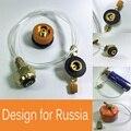 YT Al Aire Libre Estufa de Camping Gas Propano Adaptador de Recarga De Gas LPG Cilindro Tanque Plana Quemador Acoplador Adaptador De Botella Seguro Ahorrar para Rusia