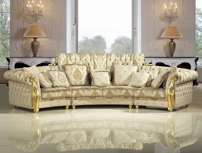 Upscale Hotel Curved Fabric Sofa Living Room Big Middle East Sofa Set With  Solid Wooe And ... Part 70
