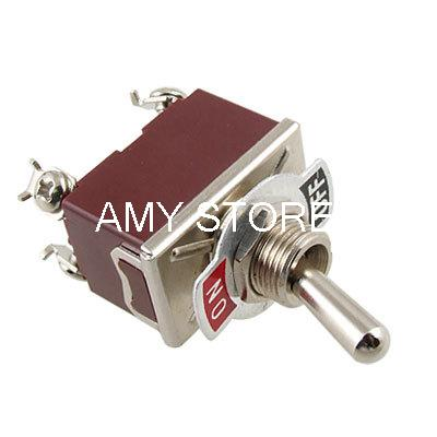 цена на On/Off Double Pole Single Throw 2 Way Latching Toggle Switch 4 Screw Terminals