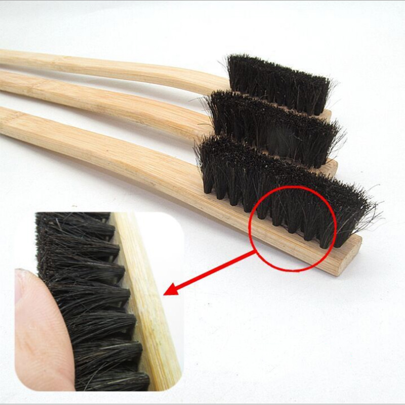 Image 3 - 1pc Size 40cm Car Wash Cleaning Detailing Brush Bamboo Long handled Pig Hair Wheel Brush Car Care Tools Auto Detailing 2019-in Sponges, Cloths & Brushes from Automobiles & Motorcycles