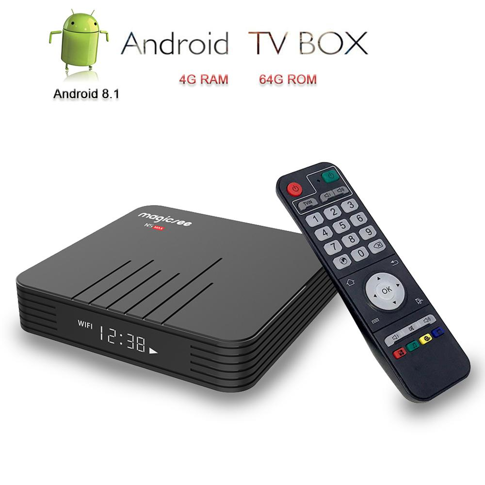 Magicsee Android TV Box Smart TV Amlogic S905X2 Android 8 1 IPTV Set Top Box N5
