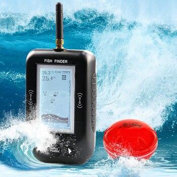 Erchang Smart Portable Depth Fish Finder wireless Fishfinder Alarm Sonar Sensor echo sounder Fishfinder for Lake Sea Fishing фото