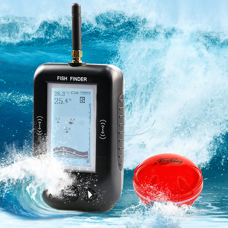 Erchang Smart Portable Depth Fish Finder with 100 M Wireless Sonar Sensor echo sounder Fishfinder for Lake Sea Fishing outlife smart portable fishing helper depth fish finder 100 m wireless sonar sensor echo sounder fishfinder lake sea fishing