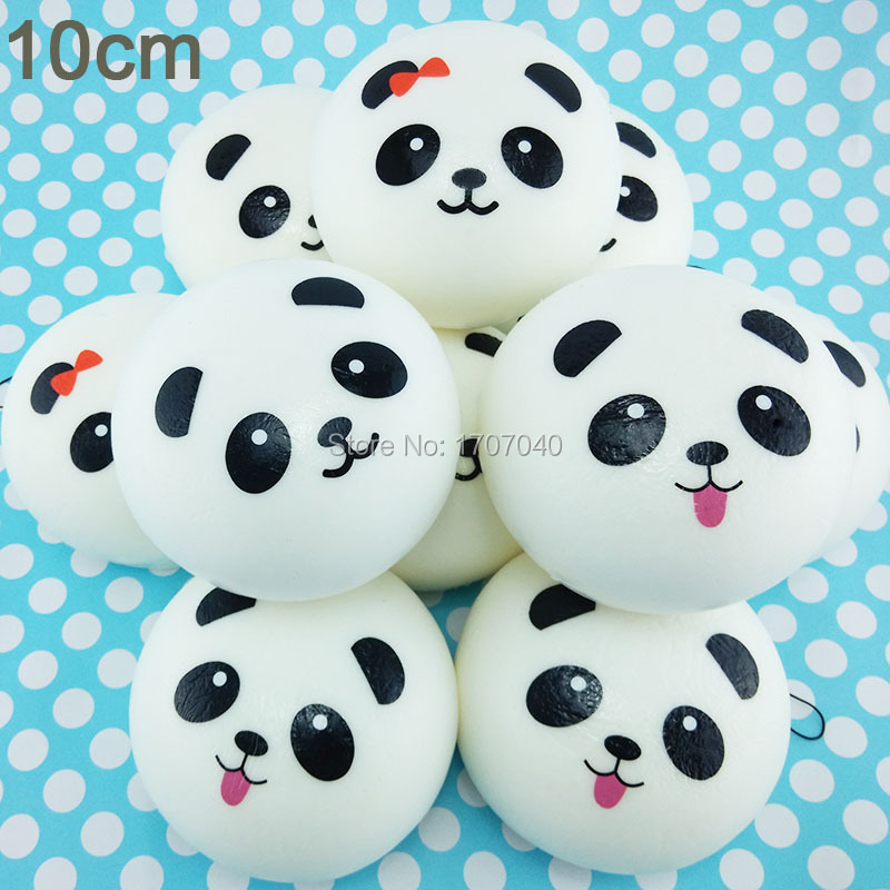Panda Bun Squishy Supplier : Aliexpress.com : Buy 10cm Jumbo Panda Squishy Collectibles Kawaii Buns Bread Pendant Food Toy ...