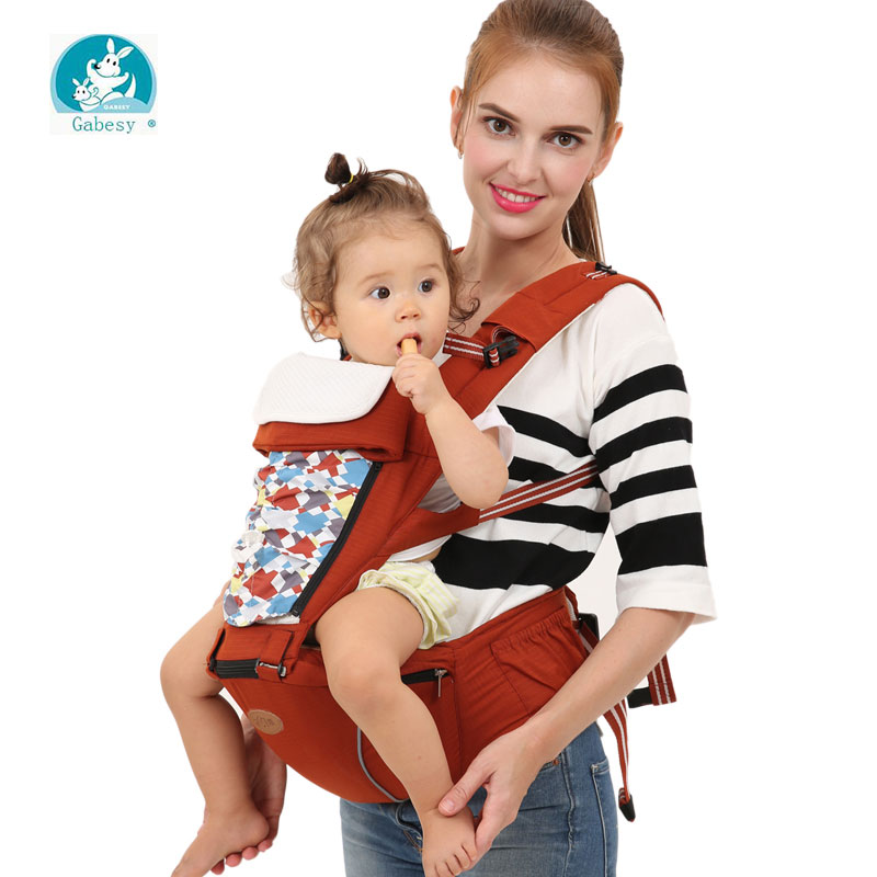 Gabesy Comfort Hipseat Ergonomic Baby Carrier 360 Mochila Portabebe