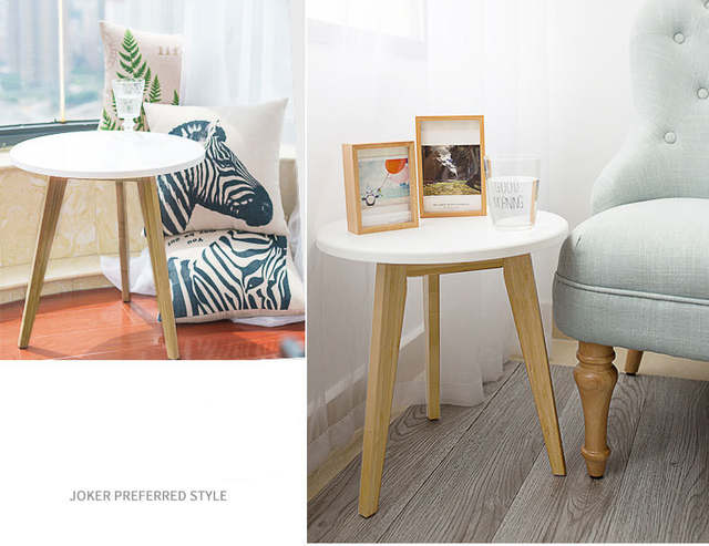 Us 110 92 6 Off Small Side Table Coffee Lobby Furniture Desk Magazine White Bamboo Natural Color In Tables From On