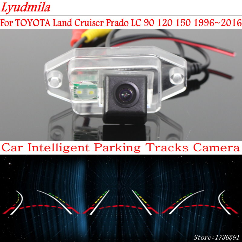 Lyudmila FOR TOYOTA Land Cruiser Prado LC 90 120 150 Backup Rear View CCD Car Reverse Camera Rearview Parking Trajectory Camera image