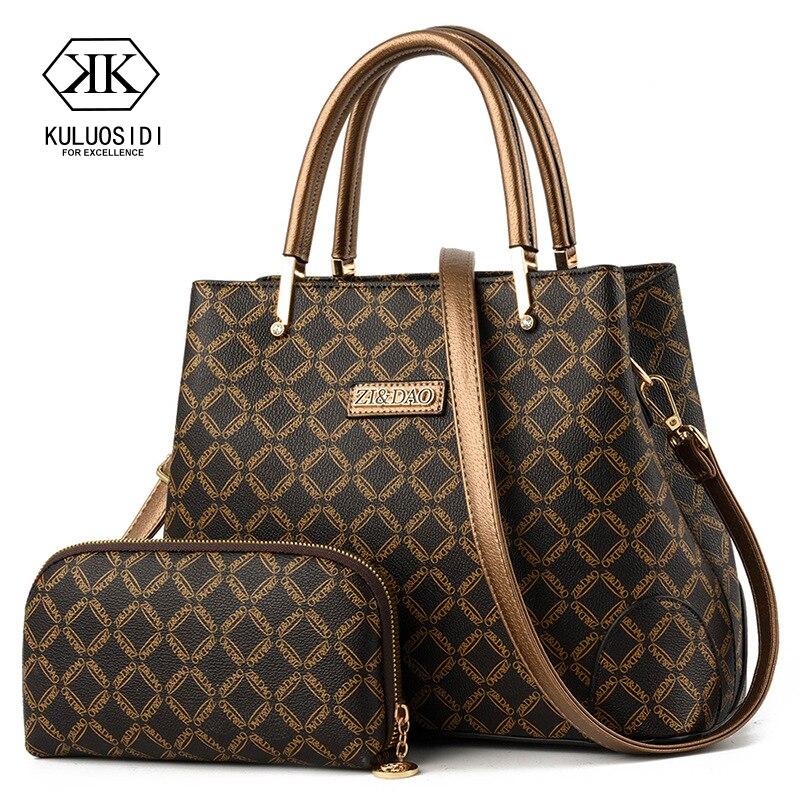 Two Piece Luxury Handbags Women Bags Set Designer Women Leather Handbag Shoulder Bag For Women 2019 Sac A Main Ladies Hand Bags