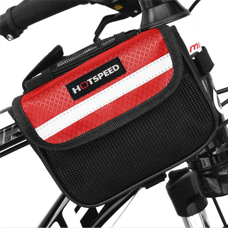 Outdoor Mountain Road Bike Bag Bicycle Front Tube Bag Cycling Phone Touch Screen Pouch Pannier Bike Bags S / M / L