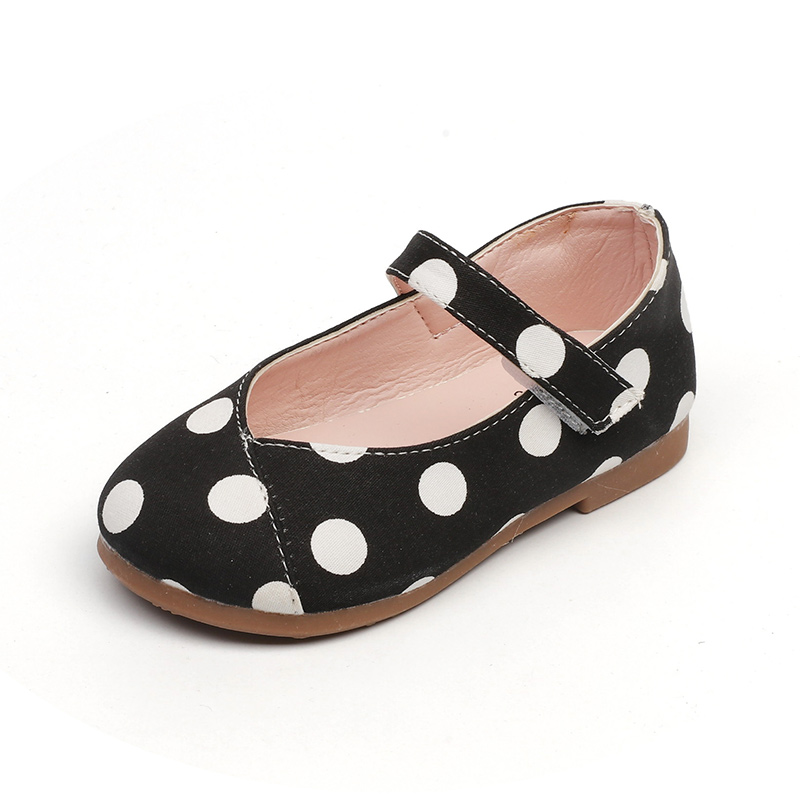 New Girls Cute Shoes Sweet Girl Flats Kids Casual Shoes Childrens Sneakers With Dots Princess Party Black White Yellow 1-7 YrsNew Girls Cute Shoes Sweet Girl Flats Kids Casual Shoes Childrens Sneakers With Dots Princess Party Black White Yellow 1-7 Yrs