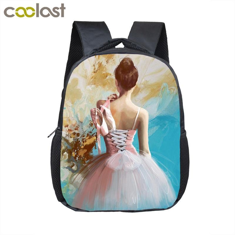 bc2d66bd60ba Купить Мультфильм балетные костюмы танцы девочка маленький рюкзак детские  школьные сумки детский сад рюкзак детские мини сумки для малышей Детск..