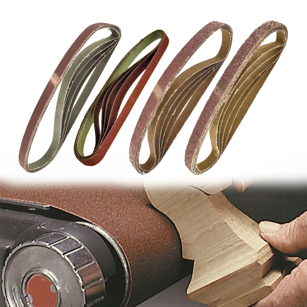 20 Pcs 457 X 13 Mm Sanding Belts Grinder Metal Polishing Sanding Belts Mixed Grit Abrasive Bands Welding Belt