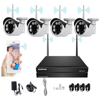 4CH Wireless 720P1.0MP /960P / 1080P Wifi NVR Security System 4TB W.D.HDD Camera CCTV