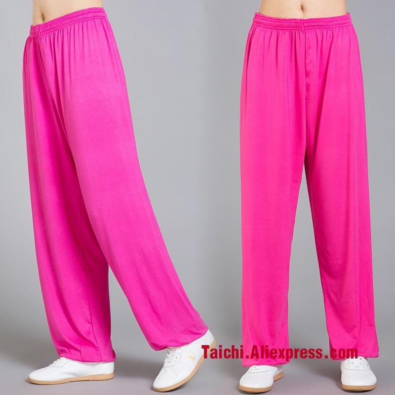 Modal Tai Chi Pants Woman and Man Wu Shu Pants Spring And Summer Martial Art Yoga Pants Bright color