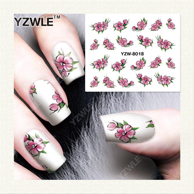 YWK  1 Sheet DIY Designer Water Transfer Nails Art Sticker / Nail Water Decals / Nail Stickers Accessories (YZW-8018)