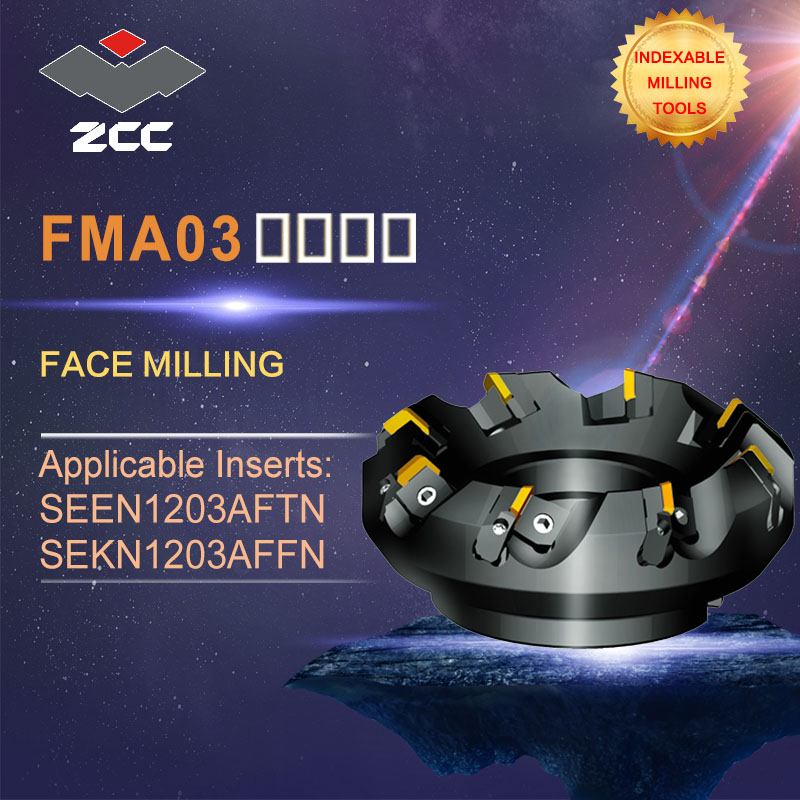 ZCC.CT original face milling cutters FMR03 high performance CNC lathe tools indexable milling tools face milling tools