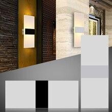 3W/5W/6W Led Acrylic Wall Lamp AC85-265V Wall Mounted Sconce Lights lamp Decorative Living Room Bedroom Corridor Wall Lights