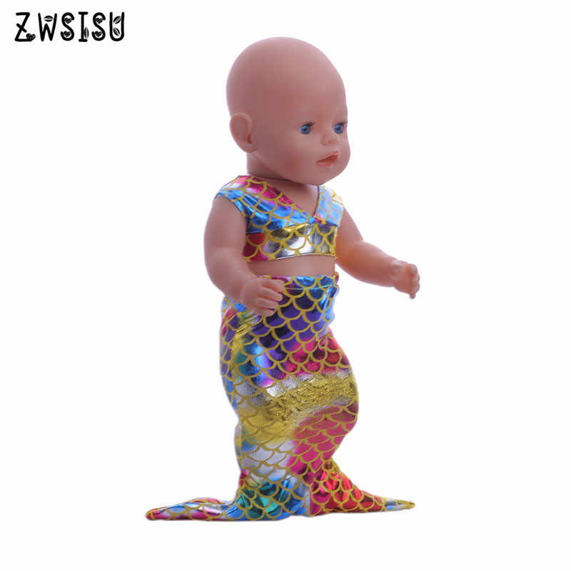 Платье «русалочка» 18 дюймов американская кукла и 43 см для ухода за ребенком для мам кукла-это лучший подарок для детей b696