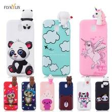 Silicone Case on For Samsung Galaxy J5 2017 Back Cover J3 J7 3D Unicorn Panda Soft Phone Etui