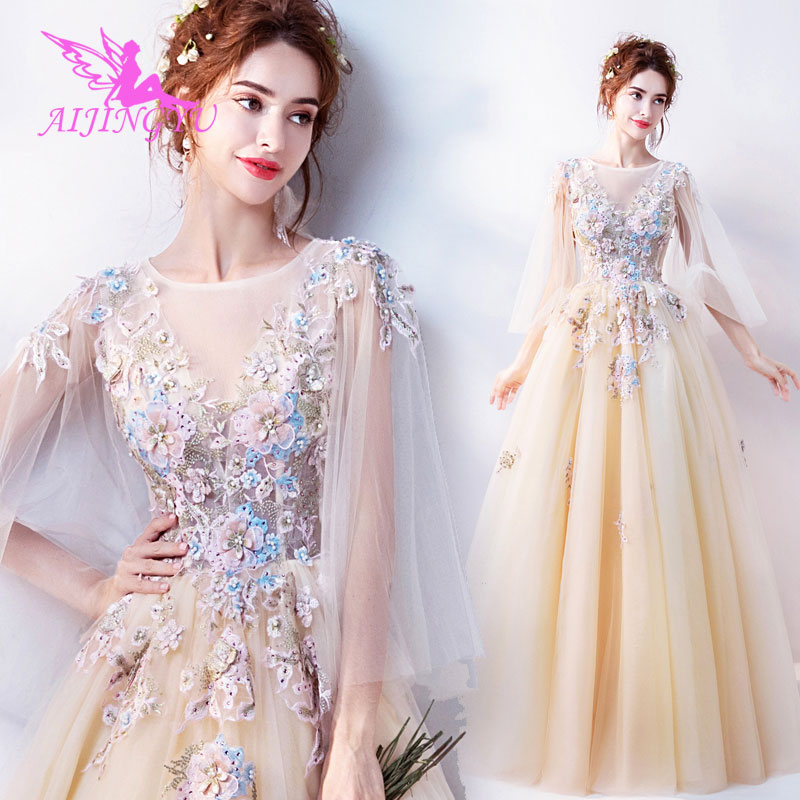 AIJINGYU 2018 Beauty Free Shipping New Hot Selling Cheap Ball Gown Lace Up Back Formal Bride Dresses Wedding Dress TJ120