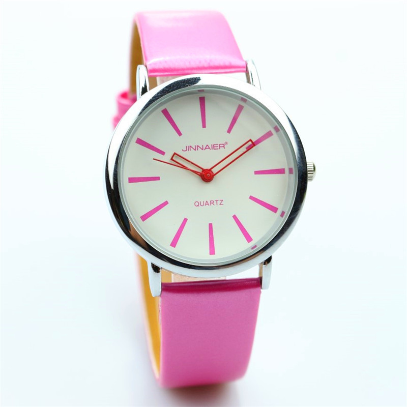 2018 New Fashion Women And Girls Casual Simple Design High Quality Quartz Leather Watch Cute And Colorful Student Mesa De Regalo