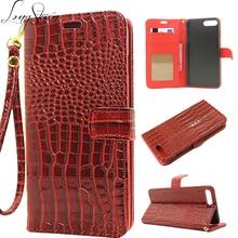 [Длинные Стивен] Для iPhone 7 Case Уникальный Крокодил Pattern Кожа С Ремешком Бумажника Kickstand Обложка Для iPhone 7 Plus Case Filp