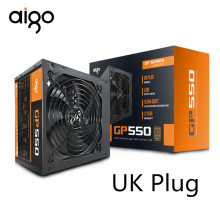 Aigo 550W Power Supply Komputer ATX PSU 80 Plus Bronze UK Plug Aktif FLEX ITX 12V PC Power supply Kipas Pendingin untuk Intel AMD PC(China)