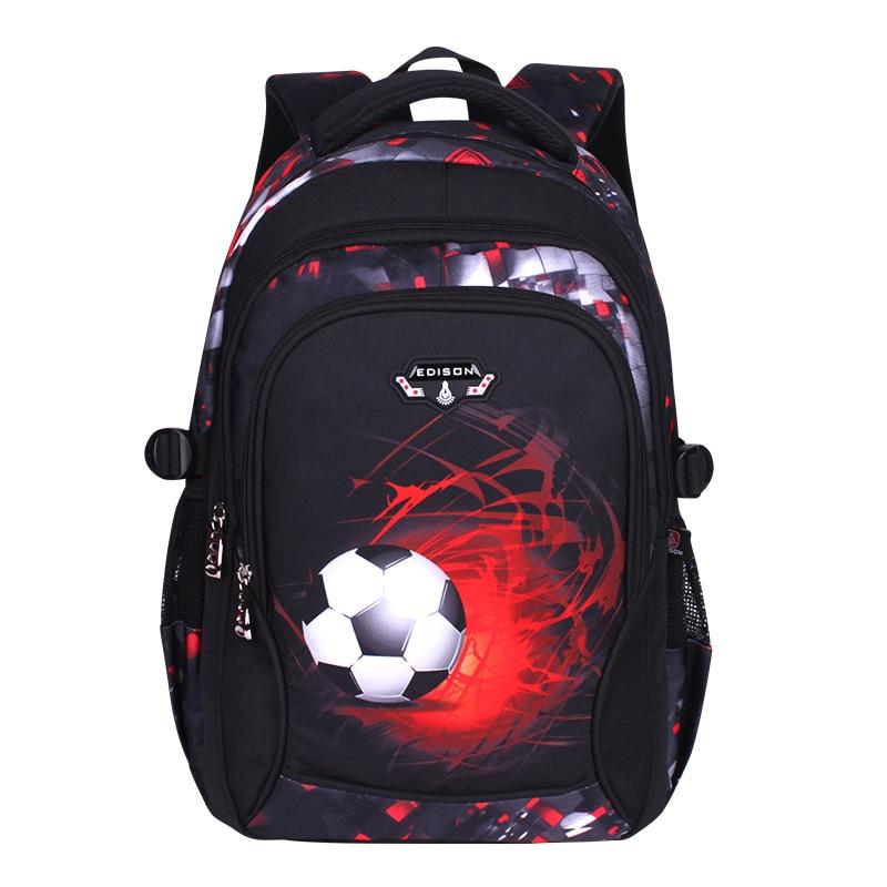 printing football schoolbag child anime backpack travel bag soccers school bags for teenage boys mochila escolar infantil menino