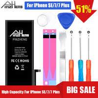 Batería de teléfono de alta capacidad PINZHENG para iPhone 7 7 Plus SE reemplazo Batterie 0 batería de ciclo para iPhone 7 7 plus
