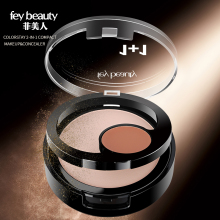 Fey Beauty Face Powder Compact Contour Palette Soft Gentle Eye Setting Powder Base Matte Bronzer Oil Control Concealer Makeup