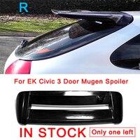 Для EK Civic 3 двери FRP волокно Стекло Mugen спойлер для Honda волокно Стекло крыши крыла аксессуары